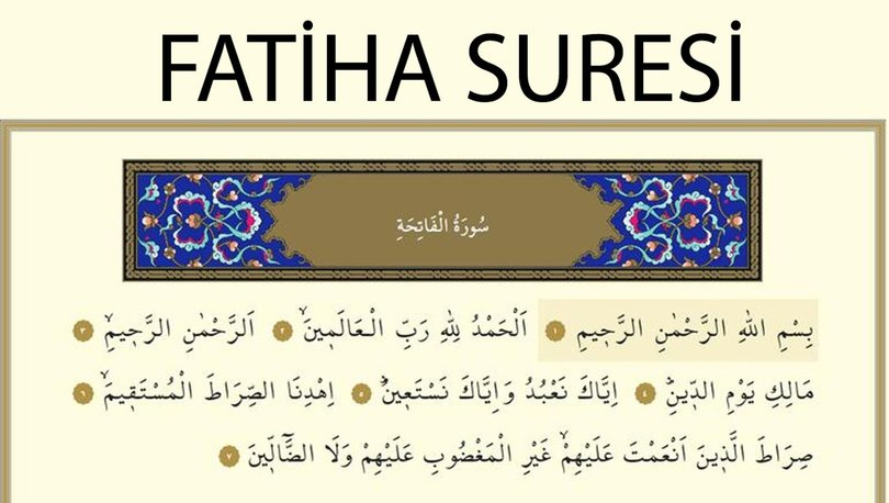 fatiha suresi ritueli nasil yapilir